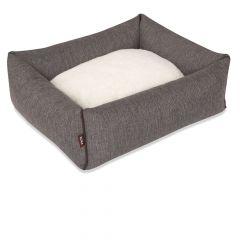 Kona Cave - Hundebett -  Bolster Bed Herringbone Grey S