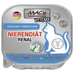 Mac's - Nassfutter - Katze Vetcare Nierendiät Lachs und Huhn