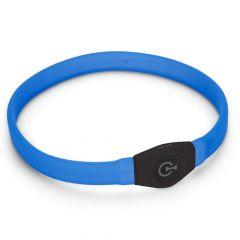 Karlie - Hundezubehör - Leuchthalsband Visio Light LED Langhaar blau 65 x 2,5cm