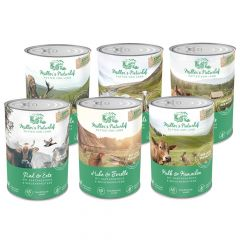 Müller's Naturhof - Nassfutter -  Probe-Paket für Hunde (getreidefrei)