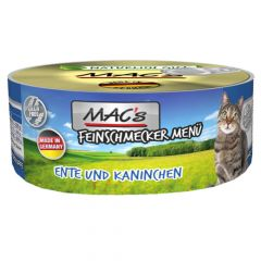 Mac's - Nassfutter - Feinschmecker Ente und Kaninchen (getreidefrei)
