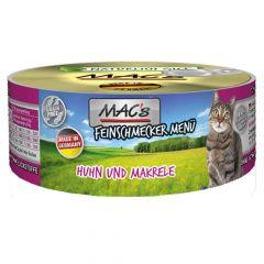 Mac's - Nassfutter - Feinschmecker Huhn und Makrele (getreidefrei)