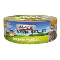Mac's - Nassfutter - Feinschmecker Kalb und Geflügel (getreidefrei)