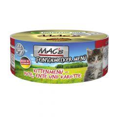 Mac's - Nassfutter - Feinschmecker Kitten Pute, Ente und Karotte (getreidefrei)