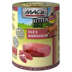 Mac's - Nassfutter - Kitten Kalb und Hühnerherzen (getreidefrei)