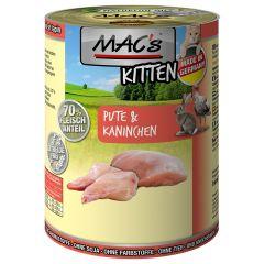 Mac's - Nassfutter - Kitten Pute und Kaninchen (getreidefrei)