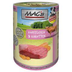 Mac's - Nassfutter - Kopffleisch & Karotten (getreidefrei)