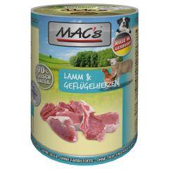 Mac's - Nassfutter - Lamm & Geflügelherzen