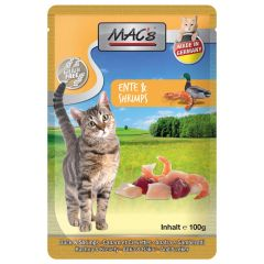 Mac's - Nassfutter - Pouch Pack Ente & Shrimps (getreidefrei)