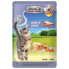 Mac's - Nassfutter - Pouch Pack Hering & Shrimps (getreidefrei)