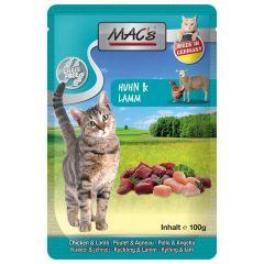Mac's - Nassfutter - Pouch Pack Huhn & Lamm (getreidefrei)