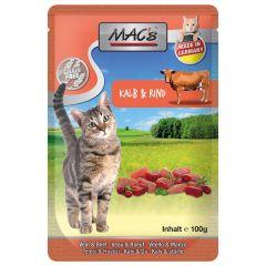Mac's - Nassfutter - Pouch Pack Kalb & Rind (getreidefrei)