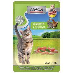 Mac's - Nassfutter - Pouch Pack Kaninchen & Geflügel (getreidefrei)