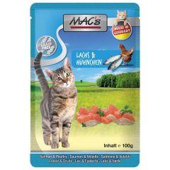 Mac's - Nassfutter - Pouch Pack Lachs & Geflügel (getreidefrei)