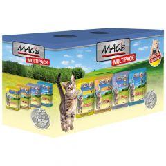 Mac's - Nassfutter - Pouch Pack Multipack mit Fisch (getreidefrei)