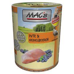 Mac's - Nassfutter - Pute & Heidelbeeren (getreidefrei)