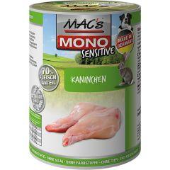 Mac's - Nassfutter - Mono Sensitive Kaninchen (getreidefrei)