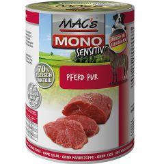 Mac's - Nassfutter - Mono Sensitive Pferd Pur (getreidefrei)