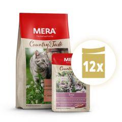 Mera - Premium Paket Country Taste Trockenfutter 400g + Nassfutter 12 x 85g