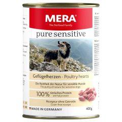 Mera - Nassfutter - Pure Sensitive Geflügelherzen (getreidefrei)