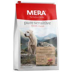 Mera - Trockenfutter - Pure Sensitive Fresh Meat Adult  Rind & Kartoffel High Protein 12,5kg (getreidefrei)