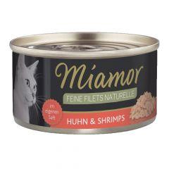 Miamor - Nassfutter - Feine Filets naturelle Huhn & Shrimps