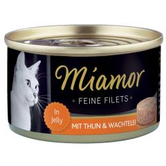 Miamor - Nassfutter - Feine Filets mit Thun und Wachtelei