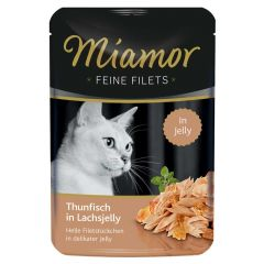 Miamor - Nassfutter - Feine Filets mit Thunfisch in Lachsjelly
