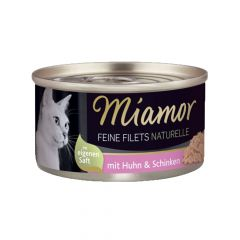 Miamor - Nassfutter - Feine Filets naturelle Huhn & Schinken