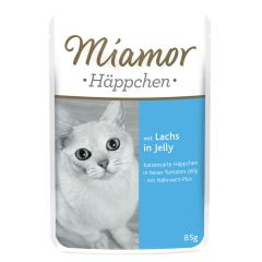 Miamor - Nassfutter - Häppchen mit Lachs in Jelly