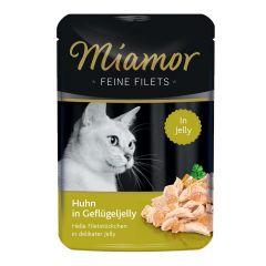 Miamor - Nassfutter - Feine Filets Huhn in Geflügeljelly (getreidefrei)