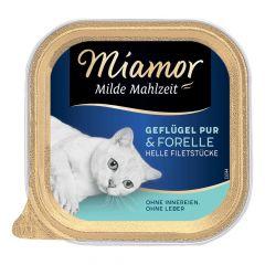 Miamor - Nassfutter - Milde Mahlzeit Geflügel Pur und Forelle