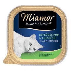 Miamor - Nassfutter - Milde Mahlzeit Geflügel Pur und Gemüse