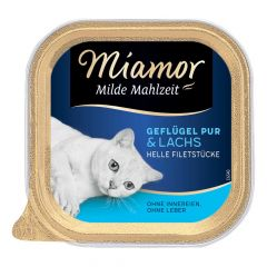 Miamor - Nassfutter - Milde Mahlzeit Geflügel Pur und Lachs