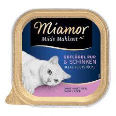 Miamor - Nassfutter - Milde Mahlzeit Geflügel Pur und Schinken