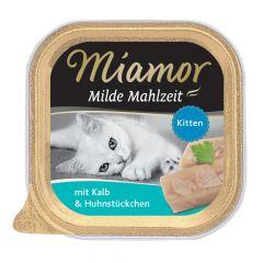 Miamor - Nassfutter - Milde Mahlzeit mit Kalb und Huhnstückchen Kitten