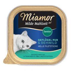 Miamor - Nassfutter - Milde Mahlzeit Senior Geflügel Pur und Rehwild