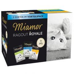 Miamor - Nassfutter - Ragout Royale in Jelly Multibox Huhn, Thunfisch und Kaninchen
