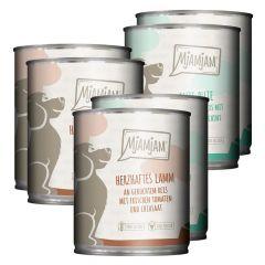 Mjamjam - Nassfutter - Mixpaket leckere Mahlzeiten Lamm und Pute (glutenfrei)