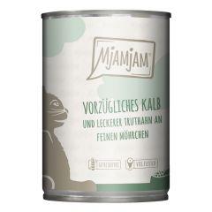 Mjamjam - Nassfutter - Vorzügliches Kalb und Truthahn an leckeren Möhrchen (getreidefrei)