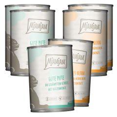 Mjamjam - Nassfutter - Mixpaket Monoprotein Pute und Huhn (getreidefrei)
