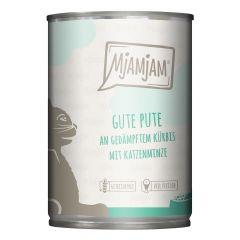 Mjamjam - Nassfutter - Gute Pute an gedämpftem Kürbis (getreidefrei)