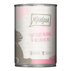 Mjamjam - Nassfutter - Saftiges Huhn & Wildlachs (getreidefrei)