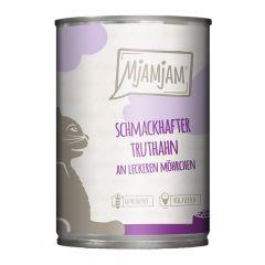 Mjamjam - Nassfutter - Schmackhafter Truthahn an leckeren Möhrchen (getreidefrei)