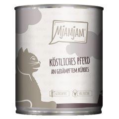 Mjamjam - Nassfutter - Köstliches Pferd an gedämpften Kürbis (getreidefrei)