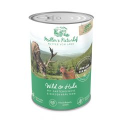Müller's Naturhof - Nassfutter - Wild und Huhn mit Gartengemüse und Wiesenkräutern (getreidefrei)