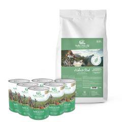 Müller's Naturhof - Hundefutter - Premium Paket Natürlich Kaltgepresst Huhn und Rind mit Hering 15kg + Nassfutter 6 x 400g (getreidefrei)