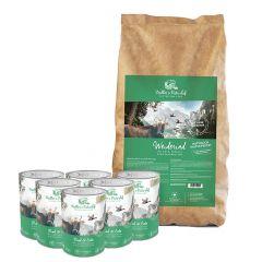 Müller's Naturhof - Hundefutter - Premium Paket Natürlich Kaltgepresst Weiderind 15kg + Nassfutter 6 x 400g