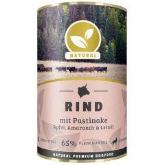 Natural - Nassfutter - Rind mit Pastinake, Apfel und Amaranth (getreidefrei)