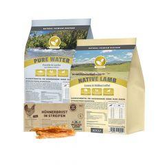 Natural - Trockenfutter - Premium Paket 2 x 12,5/15kg + Snack 250g (getreidefrei)